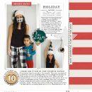 Holiday Favorites December digital scrapbooking layout using Favorite Things (Journal Cards) by Sahlin Studio