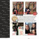 Holiday Favorites Cheers December digital scrapbooking layout using Favorite Things (Journal Cards) by Sahlin Studio