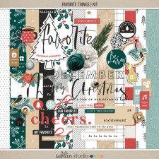 Favorite Things (Kit) by Sahlin Studio- Perfect for your December Daily, Document Your December, Project Life and Christmas albums!!