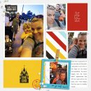 The End Goodbye to Disney digital scrapbooking Project Life layout using the Project Mouse (See Ya Real Soon) by Britt-ish Designs and Sahlin Studio
