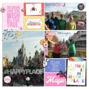 Disney Happy Place Digital Project Life scrapbook layout using Project Mouse (Pop) by Britt-ish Designs
