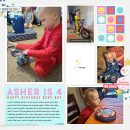 Happy Birthday Digital scrapbook layout using Project Mouse (Pop) by Britt-ish Designs