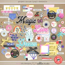 Project Mouse (POP): Elements by Britt-ish Designs and Sahlin Studio - Perfect for documenting your Disney Project Mouse and Project Life albums!!