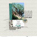 Disney Animal Kingdom scrapbook Project Life layout using Project Mouse (Pop) Extras by Britt-ish Designs