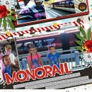 Disney Monorail scrapbook layout using Project Mouse (Pop) Extras by Britt-ish Designs