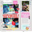 Disney STITCH scrapbook layout using Project Mouse (Pop) Extras by Britt-ish Designs