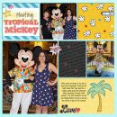 Disney Tropical Mickey scrapbook layout using Project Mouse (Pop) Extras by Britt-ish Designs