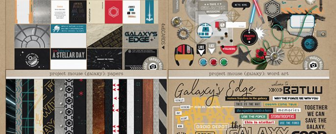 Project Mouse (Galaxy): BUNDLE by Britt-ish Designs and Sahlin Studio - Perfect for all of your Disney Tomorrowland and Star Wars layouts, in your scrapbookings or Project Life albums!!