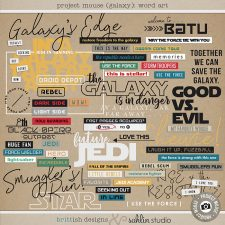 Project Mouse (Galaxy): Word Art by Britt-ish Designs and Sahlin Studio - Perfect for all of your Disney Tomorrowland and Star Wars layouts, in your scrapbookings or Project Life albums!!