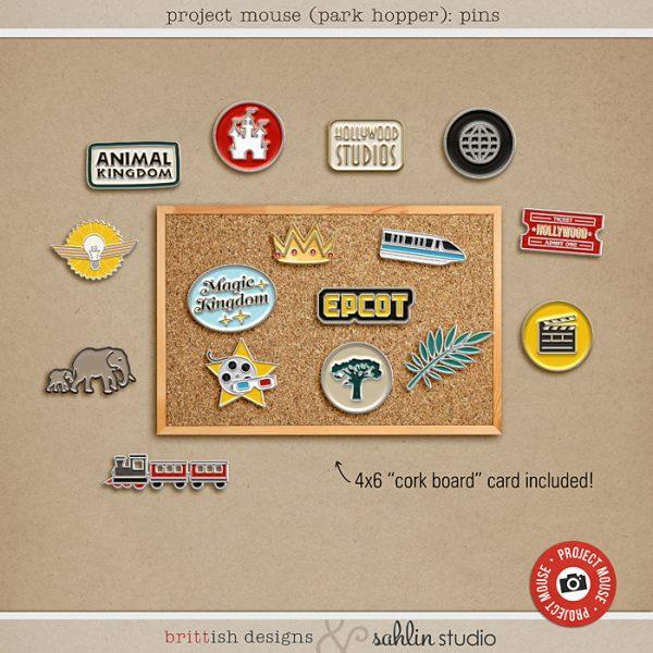 Project Mouse (Park Hopper): Enamel PIns by Britt-ish Designs and Sahlin Studio