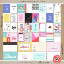 Project Mouse (POP): Journal Cards by Britt-ish Designs and Sahlin Studio - Perfect for documenting your Disney Project Mouse and Project Life albums!!