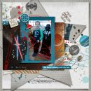 Disney Star Wars Out of this World digital scrapbook layout using Project Mouse (Galaxy) by Brittish Designs and Sahlin Studio